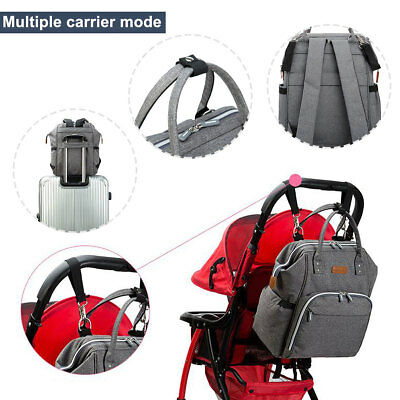 Multifunctional Baby Diaper Nappy Backpack Waterproof Large Changing Mom Bag 3