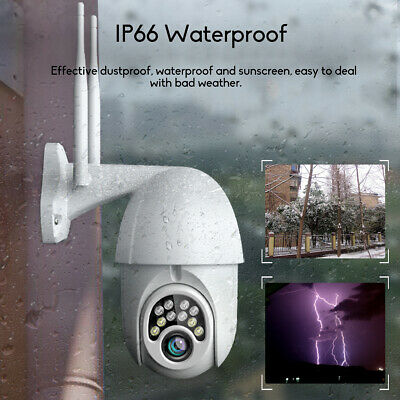 Outdoor Waterproof WiFi PTZ Pan Tilt 1080P HD Security IP IR Camera Night Vision 7