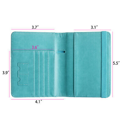 RFID Blocking Slim Leather Travel Passport Holder Credit Card Wallet Case Cover 9