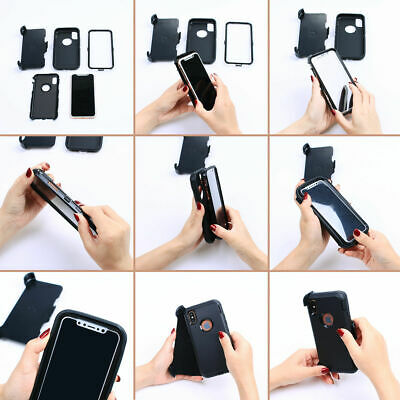 Case For iPhone 7 & iPhone 8 With Screen Clip Belt Hybrid Shockproof Heavy Duty 4