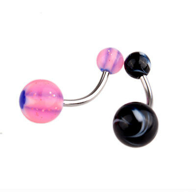 50 Pcs Belly Button Navel Ring Bar Bars Body Piercing Jewellery Rings Makeup UK 8