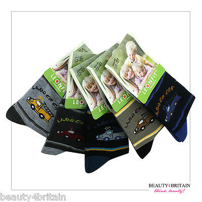 30 Pairs Boy Socks Luxury Cotton Rich 95% 8-16 Years Different Designs Wholesale