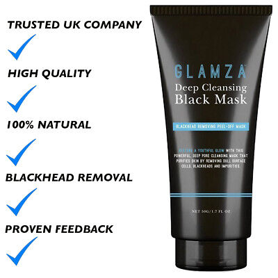 Glamza Charcoal Blackhead Remover Peel Off Facial Cleaning Black Face Mask 50g 6