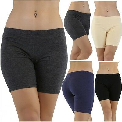13081c5b8f ... Women's Cotton Spandex Low Rise Yoga Gym Bike Shorts S-4Xl 20 Colors  Usa 2