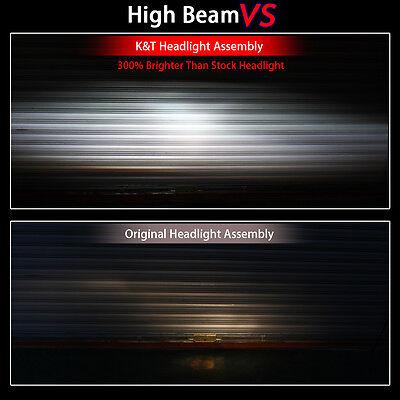 KT LED Halo Angel Demon Eyes Headlight Assembly for Yamaha R15 2012-2016 White