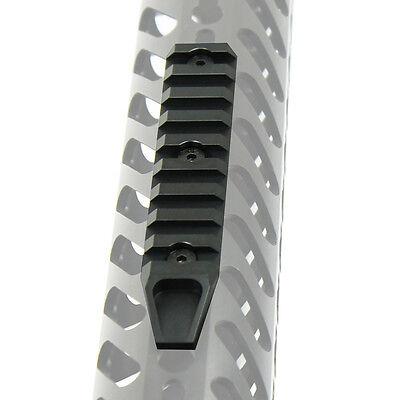 "9 Slot 4.5"" Picatinny Weaver Rail Section for Keymod Handguard - Aluminum Black 8"