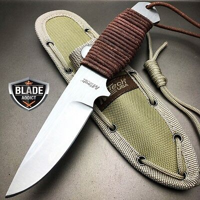 """8"""" MTECH Military SURVIVAL Tactical Fixed Blade Hunting Camping Knife + Sheath 2"""