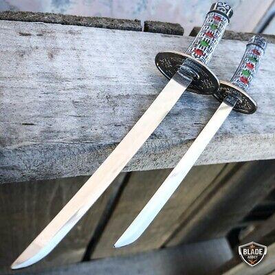 2PC Japanese Samurai Sword Fixed Blade Letter Opener Katana Knife w Stand NEW 4