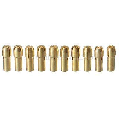 10Pcs Brass Drill Chuck Collet Bit For Dremel Rotary Tools 0.5 - 4.3Mm R20 4