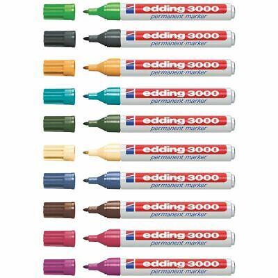 EDDING Permanentmarker 3000 1,5-3mm [20 Farben wählbar] 3