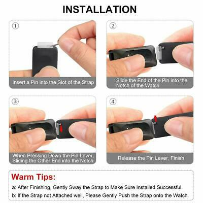 For Fitbit Inspire / Inspire HR Replacement Silicone Wristband Strap Watch Band 4