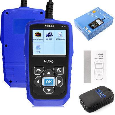 Nexas Nl102 Heavy Duty Truck & Car Obd2 Diagnostic Hd Code Reader Diesel Scanner 6