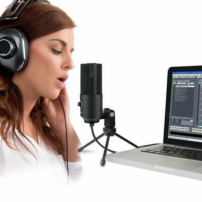 USB-Mikrofon Kondensatormikrofon für PC Laptop Aufnahmemikrofon Kardioid Studio 8