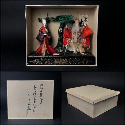 2 Antique NINGYO Japanese Dolls TAKASAGO HINA Old Japanese Couple 10