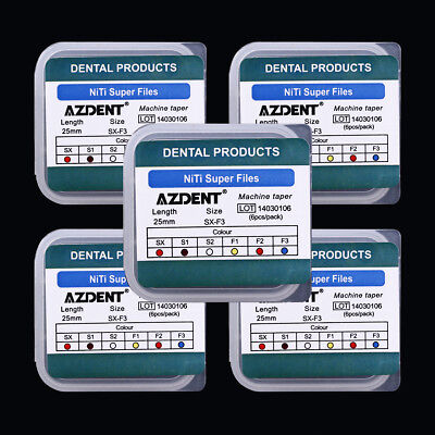 10X AZDENT Dental Endodontic Root Canal Engine Use File Size SX-F3 25MM 10