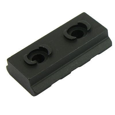 "M-Lok Picatinny / Weaver Rail Handguard Section Aluminum - 2"" 3 Slot Black 3"