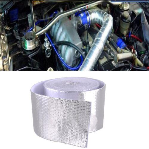16ft Silver Fiberglass Wrap Barrier Tape Heat Shield Roll Exhaust Tape For Car 2