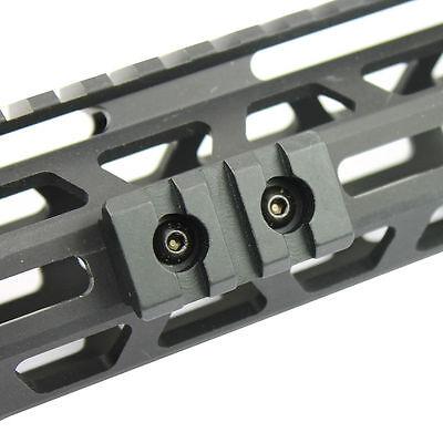 "M-Lok Picatinny / Weaver Rail Handguard Section Aluminum - 2"" 3 Slot Black 5"