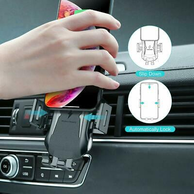 Automatic Clamping Qi Wireless Car Charging Charger Mount Air Vent Phone Holder 2
