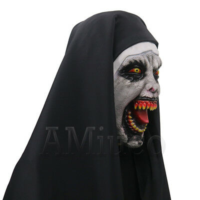 Women Nun Robes Dress For The Conjuring Scary Suit The Nun Valak Cosplay Costume 7