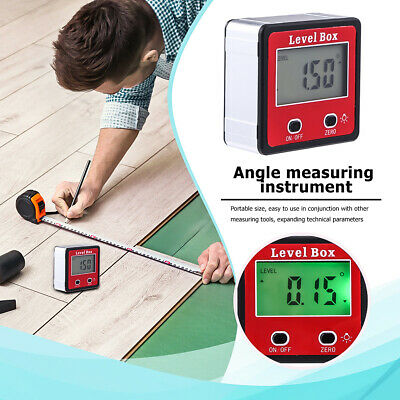 Digital LCD Protractor Gauge Angle Finder Bevel Level Box Inclinometer Meter US 4