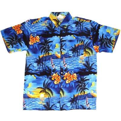 MEDIUM HAWAIIAN SHIRTS Men/'s Palm Stag Beach Holiday Aloha Summer Fancy Dress UK