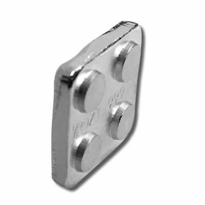 1 - 1/8 oz. 999 Fine Silver Building Block Bar (2X2) - Connect Blocks Together 2