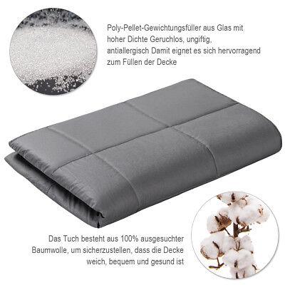 Gewichtsdecke Weighted Blanket Autism ADHD Sensory Therapie Decke Baumwolle Grau 4
