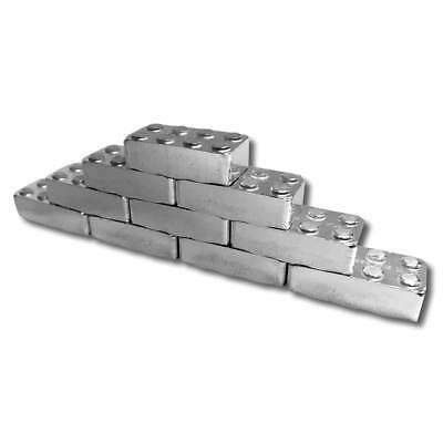 3 - 1 oz. 999 Fine Silver Building Block Bars - Connect Multiple Blocks Together 4
