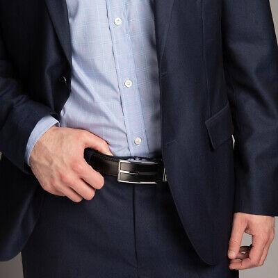 Men's Designer Leather Dress Belt With Sliding Ratchet Automatic Buckle Holeless 2