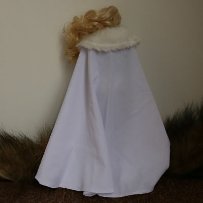 1:6 Gothic Punk Style Cloak with Cap White for 12/'/' TTL Enterbay Doll Model