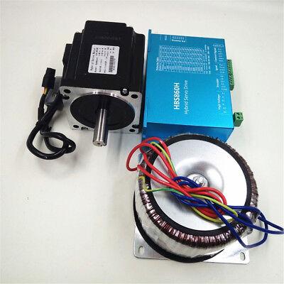 12NM DSP Closed Loop Stepper Motor Nema34 /23+Hybrid Servo Driver &Power Supply 8
