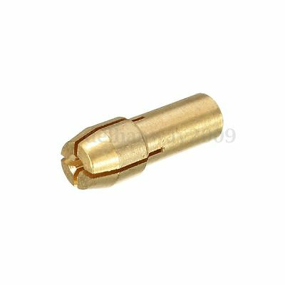 10Pcs Brass Drill Chuck Collet Bit For Dremel Rotary Tools 0.5 - 4.3Mm R20 5