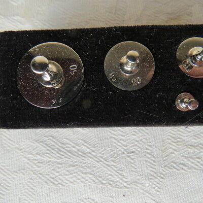 Antiker Apothekergewichte Gewichtssatz Feingewichte in gestempelter Schatulle