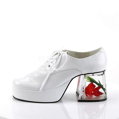 cf025863d67 3 Of 6 PIMP02 W Menu0027s White Platform Disco Pimp Mac Daddy Goldfish Heel  Costume Shoes Sc 1 St PicClick