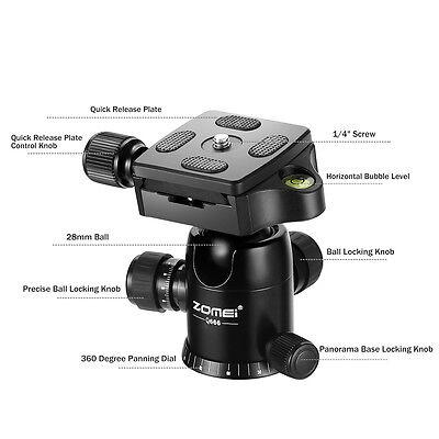 ZOMEI Q666 Portable Professional Tripod&Ball Head Travel for Canon DSLR Camera 3