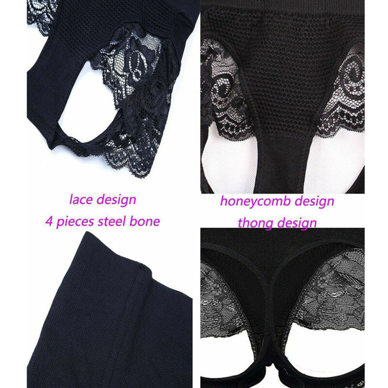 Women Slim Waist Trainer Cincher Body Shaper Panty Butt Lifter Underwear Corset 9