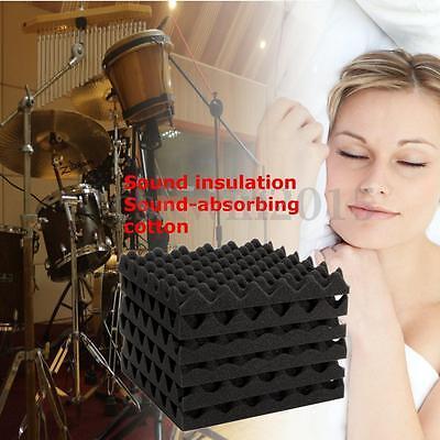 6Pcs Studio Noise Sound Proofing Acoustic Foam Egg Crate Panels Sheets 2
