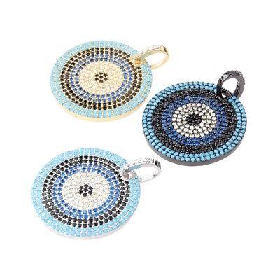 Zircon Gemstones Pave Crown Helmet Leopard Bracelet Connector Charm Loose Beads 9
