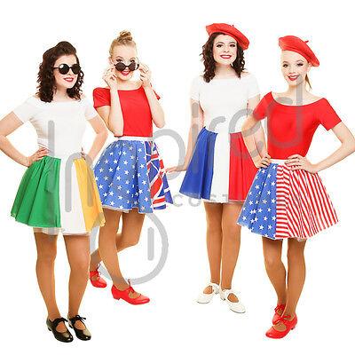 """AUSTRALIA DAY Girls 15/"""" Flag Skater Panel Skirt SCHOOL WORLD FLAG DAY Anzac Day"""