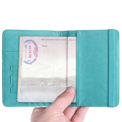 Travel Passport ID Card Wallet Holder Cover RFID Blocking Leather Purse Case AU 10