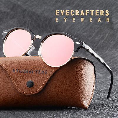 Fashion Vintage UV400 Outdoor Shades Women Mens Retro Round Polarized Sunglasses 5
