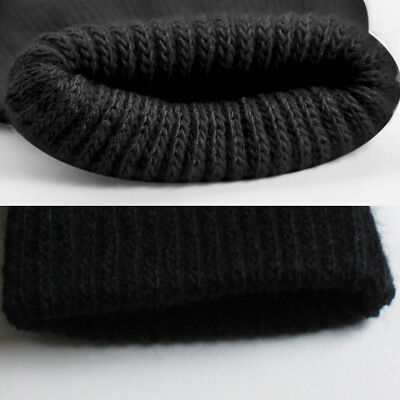 Mens Thermal Thinsulate Knitted Full Finger Gloves Winter Warm Cold Woolly Mitts 4