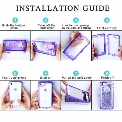 Samsung Galaxy S9 Plus Liquid Glitter Quicksand Protective Shockproof Case Cover 6