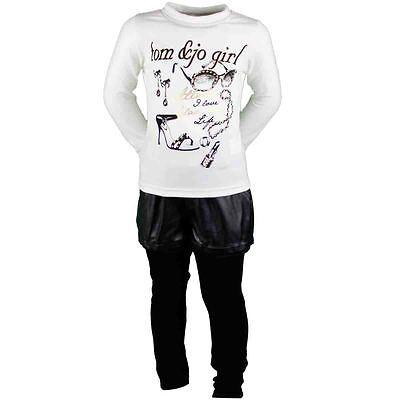 Set Bambino Abbigliamento Inverno Ragazza Pantaloni+Maglietta+Giacca Sky Nero