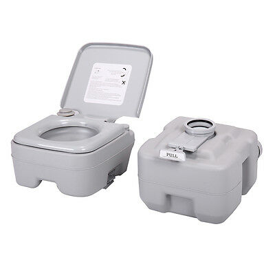 5 Gallon 20L Portable Toilet Flush Commode Camping Outdoor/Indoor Commode Potty 3