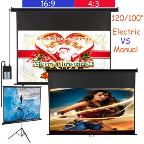 100''/120'' Pantalla de proyección Proyector Motorizada electrica/Trípode/Manual 2