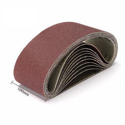 100x610mm Sander Sanding Belt 40~600 Grit For wood Metal Grinding Polishing Tool 5