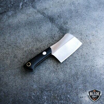 WORLDS SMALLEST WORKING FIXED BLADE KNIFE! Tiny Miniature CLEAVER Pocket Knife 8