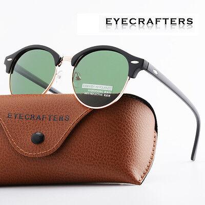 Fashion Vintage UV400 Outdoor Shades Women Mens Retro Round Polarized Sunglasses 3